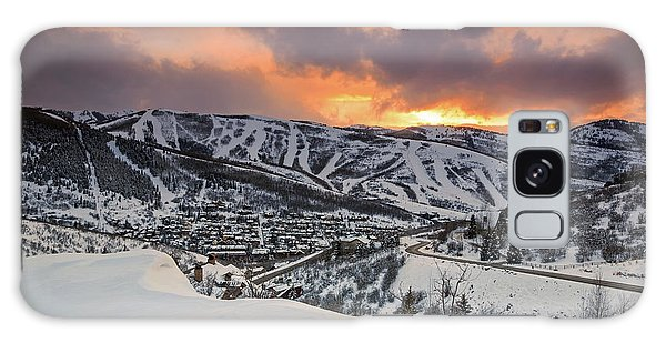 Park City Winter Sunset. Galaxy Case