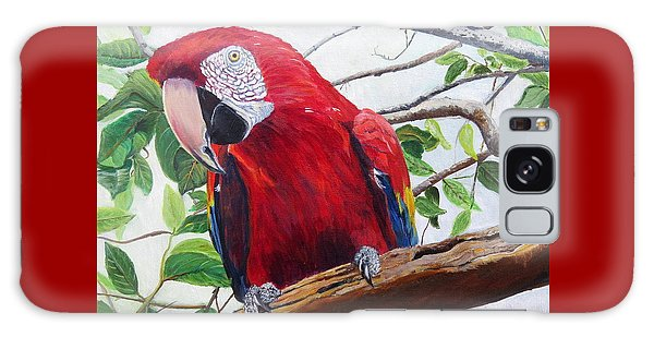 Parrot Portrait Galaxy Case by Marilyn  McNish