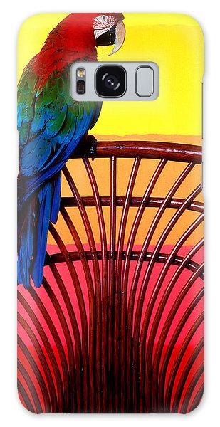Parrot Sitting On Chair Galaxy S8 Case