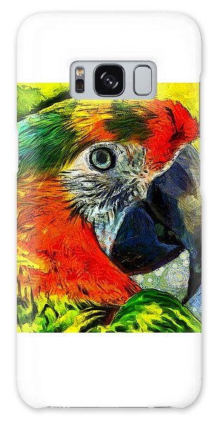 Song Birds Galaxy Case - Parrot by Stacey Chiew