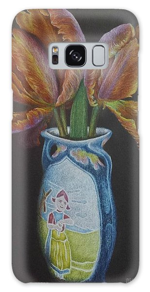 Parrot Tulips Galaxy Case