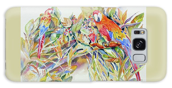Parrots In Paradise Galaxy Case