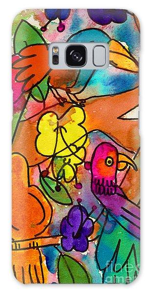 Parrots Galaxy Case