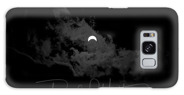 Galaxy Case featuring the photograph Partial Eclipse, Signed. by David P Hufstader