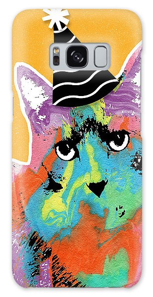 Celebration Galaxy Case - Party Cat- Art By Linda Woods by Linda Woods