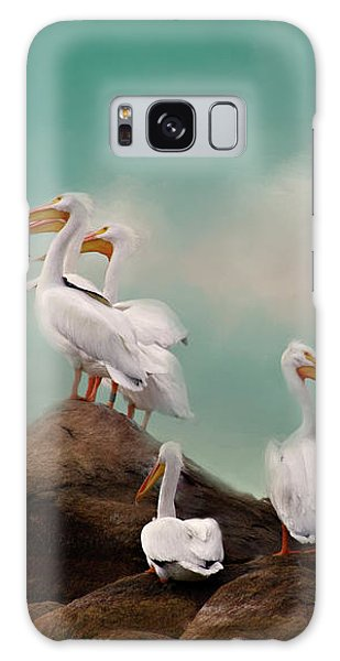 Party On The Rocks Galaxy Case by Lana Trussell