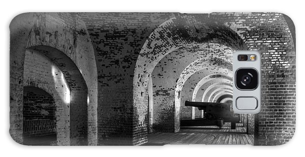 Passageways Of Fort Pulaski In Black And White Galaxy Case