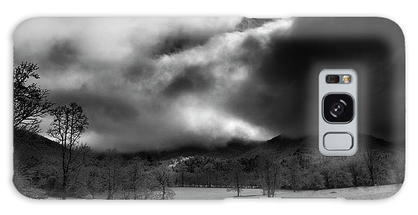 Passing Snow In North Carolina In Black And White Galaxy Case by Greg Mimbs