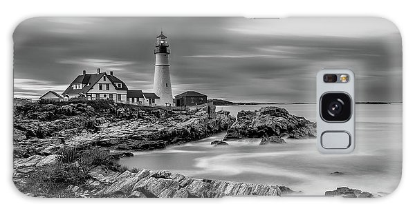 Passing Storm At Portland Head Light Galaxy Case