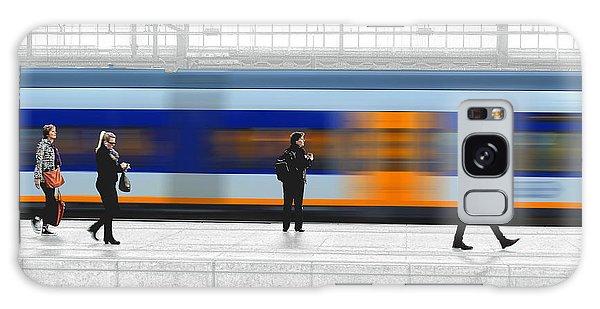 Passing Train Galaxy Case by Pedro L Gili