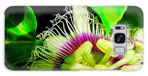 Passion Flower 2 Reflecting Galaxy Case