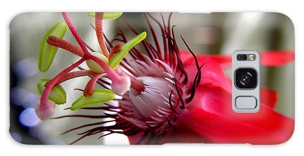 Passion Flower In Red Galaxy Case