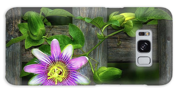 Passion Flower On The Fence Galaxy Case