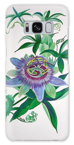 Passion Flower Galaxy Case by Tracey Harrington-Simpson