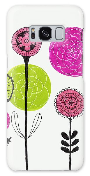 Passion Flowers Galaxy Case by Lisa Noneman