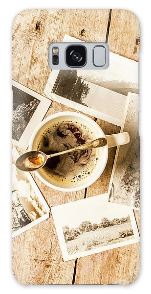 No People Galaxy Case - Past Time Tea by Jorgo Photography - Wall Art Gallery