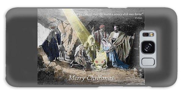 Pastafarian Merry Chrifsmas Scene Galaxy Case