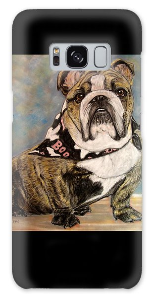 Pastel English Brindle Bull Dog Galaxy Case