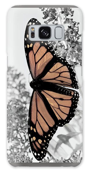 Pastel Monarch On Black And White Galaxy Case