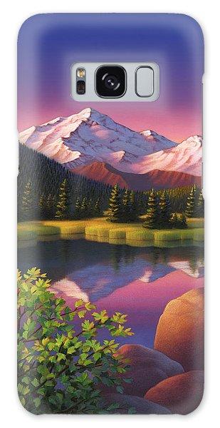 Pastel Mountain Galaxy Case