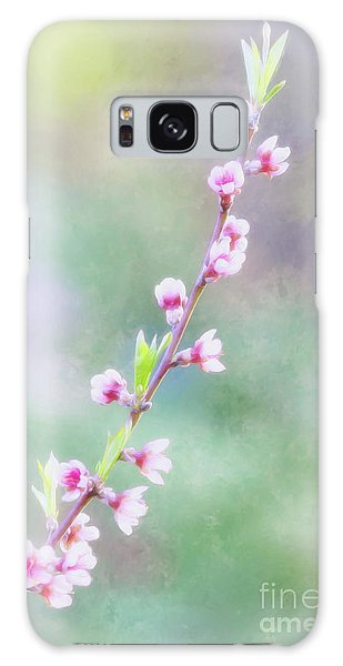 Pastel Painted Peach Blossoms Galaxy Case