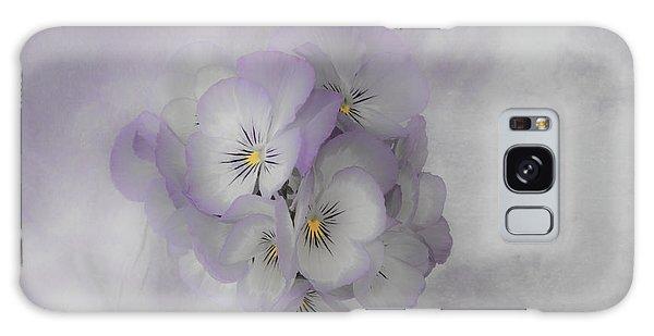 Pastel Pansies Still Life Galaxy Case by Sandra Foster