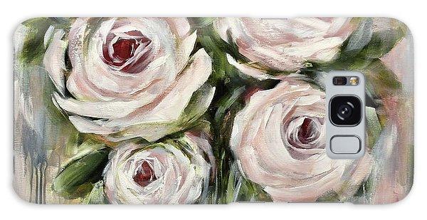 Pastel Pink Roses Galaxy Case