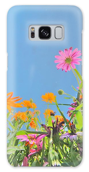 Pastel Poppies Galaxy Case