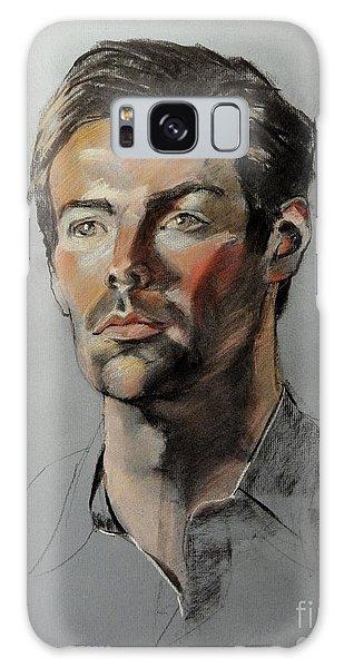 Pastel Portrait Of Handsome Guy Galaxy Case