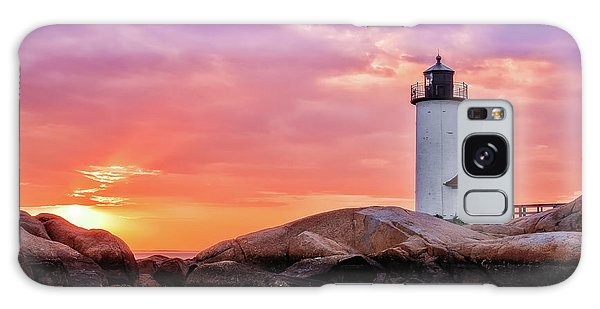 Galaxy Case featuring the photograph Pastel Sunset, Annisquam Lighthouse by Michael Hubley