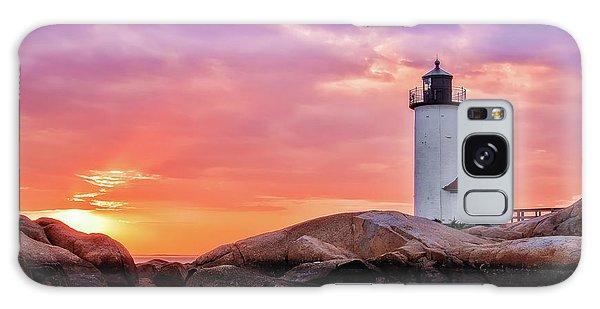 Pastel Sunset, Annisquam Lighthouse Galaxy Case