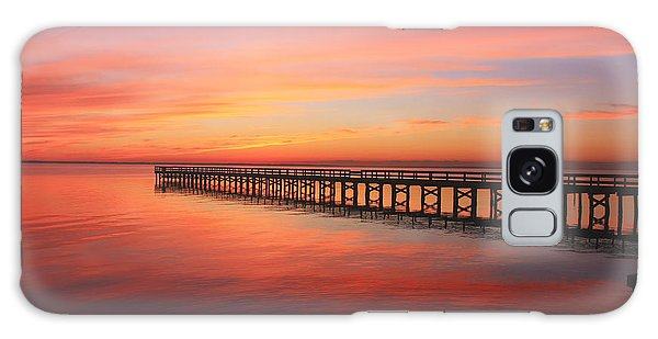 Pastels At The Hilton Fishing Pier  Galaxy Case