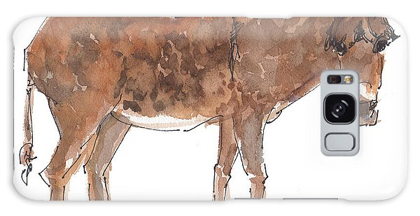 Pasture Boss 2015 Watercolor Painting By Kmcelwaine Galaxy Case