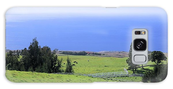 Pasture By The Ocean Galaxy Case