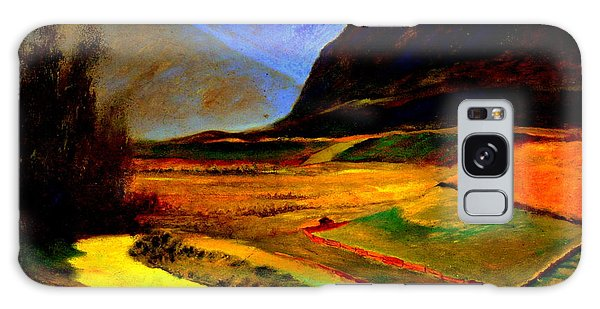 Pasture In The Mountains Galaxy Case