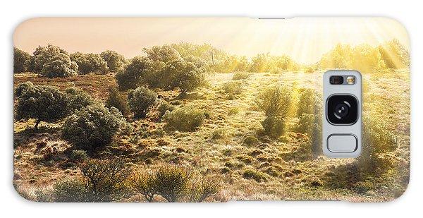 Beautiful Sunrise Galaxy Case - Pasturing Horse by Carlos Caetano