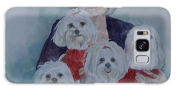 Pat And Her Babies Galaxy Case by Gloria Turner