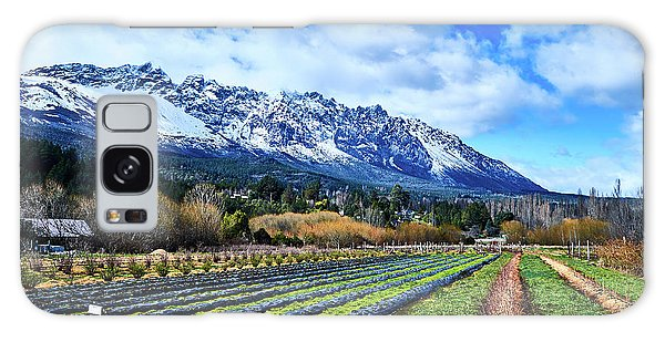 Landscape With Mountains And Farmlands In The Argentine Patagonia Galaxy Case