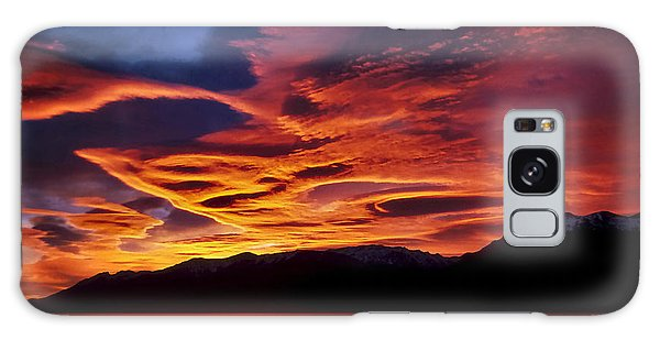 Patagonian Sunrise Galaxy Case by Joe Bonita