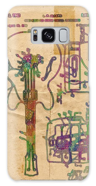 Patent Gibson Guitar Drawing Poster Print Galaxy Case