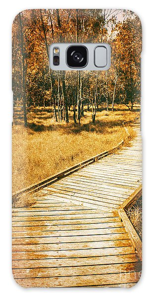 Board Walk Galaxy Case - Path To Autumn Marshlands by Jorgo Photography - Wall Art Gallery