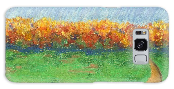 Path To Autumn Trees Galaxy Case
