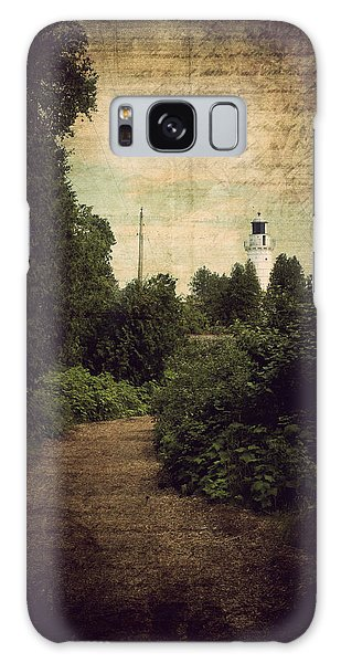 Path To Cana Island Lighthouse Galaxy Case