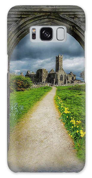 Galaxy Case featuring the photograph Path To Ireland's Quin Abbey, County Clare by James Truett