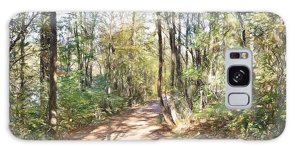 Pathway In The Woods Galaxy Case by Rena Trepanier