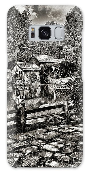 Pathway To Marby Mill In Black And White Galaxy Case by Paul Ward
