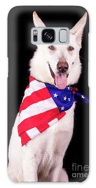 Patriotic Dog Galaxy Case