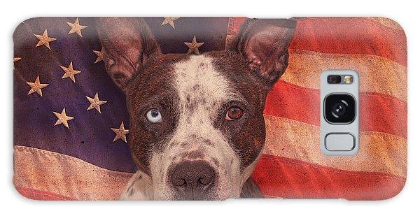 Patriotic Pit Bull  Galaxy Case