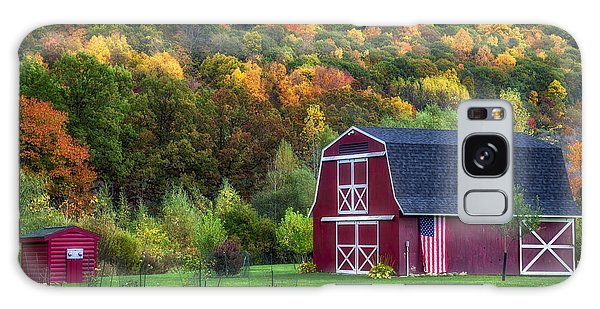 Patriotic Red Barn Galaxy Case