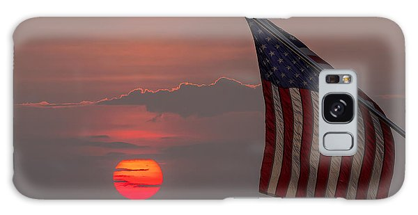 Patriotic Sunset Galaxy Case